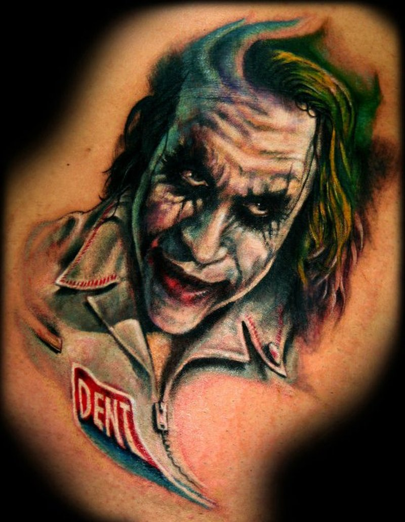 Tremendous joker tattoo design