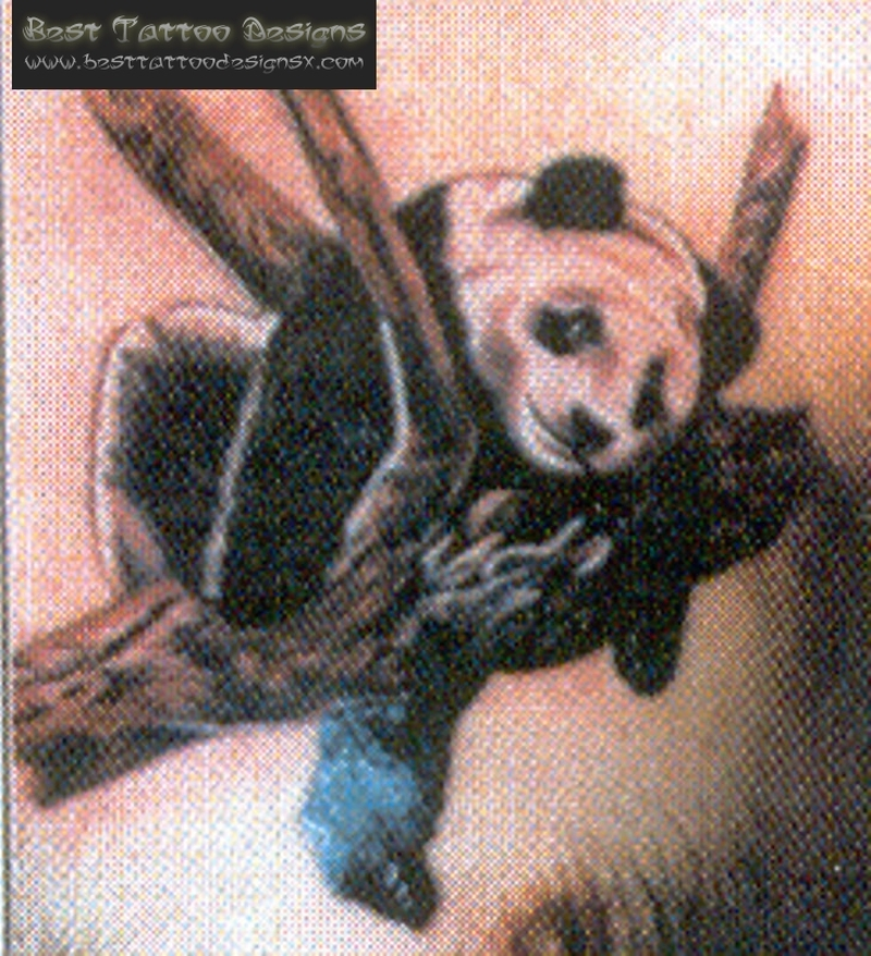Tremendous tattoo of panda bear