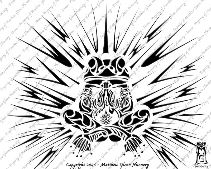 Tribal buddhist frog tattoo design tattoos book for Tribal frog tattoo
