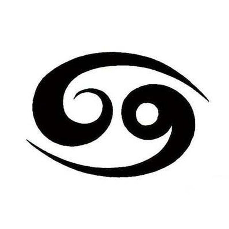 tribal cancer zodiac sign tattoo design tattoos book