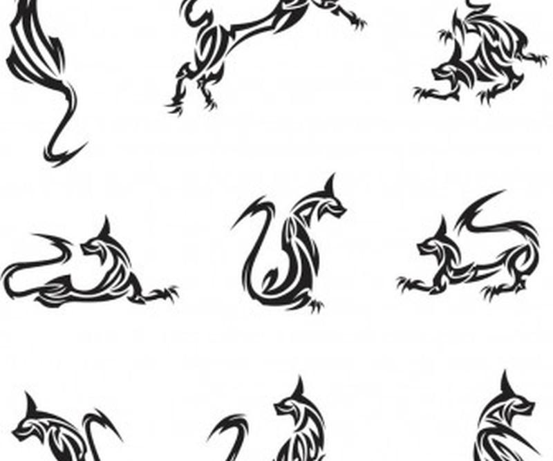 Tribal cat gallery tattoo