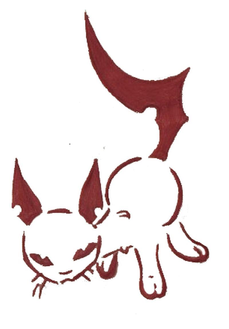 Tribal cat tattoo design 4