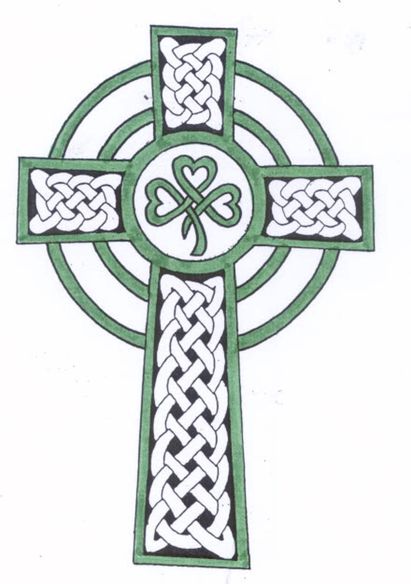 tribal celtic cross tattoo design tattoos book. Black Bedroom Furniture Sets. Home Design Ideas