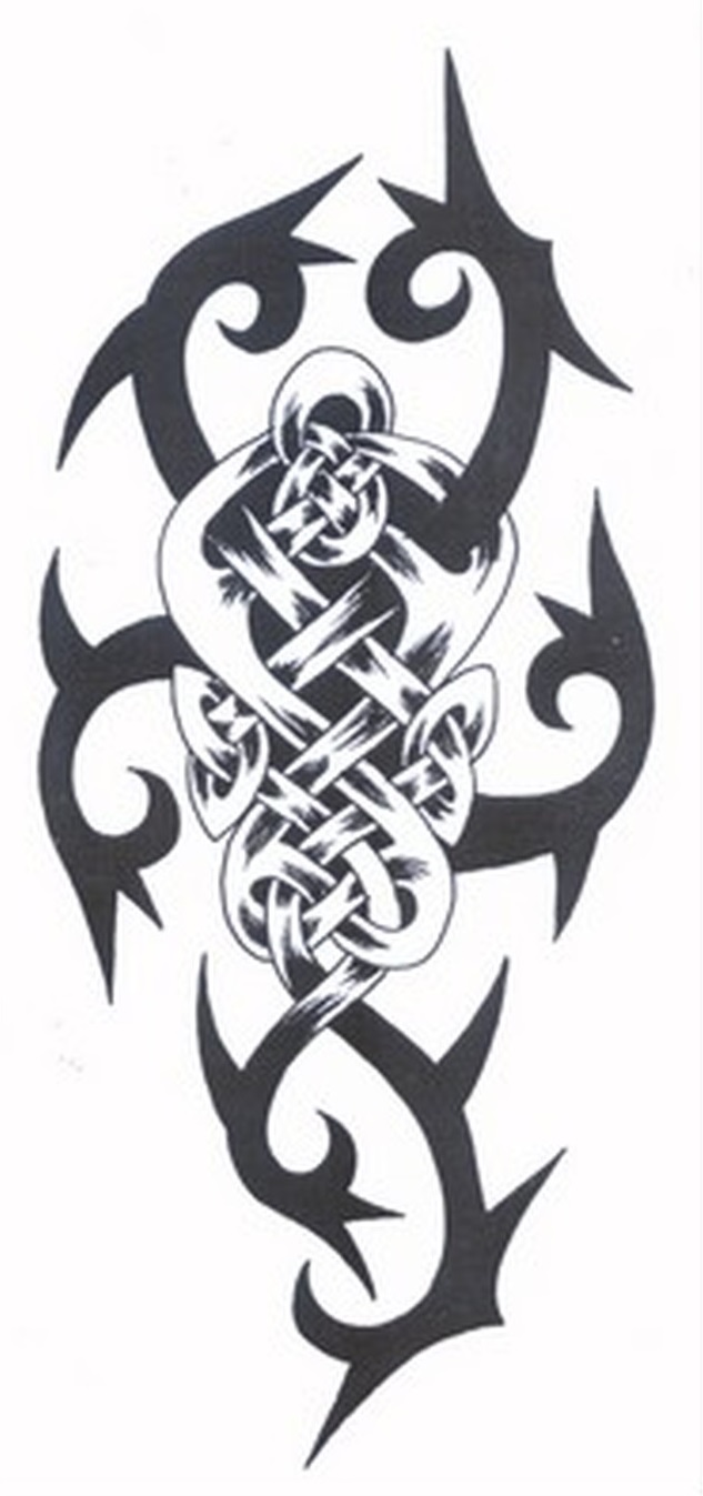 Tribal celtic tattoo image