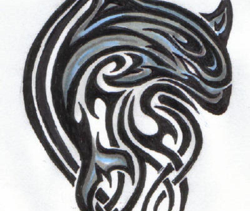 Tribal dolphin sample 3 tattoo