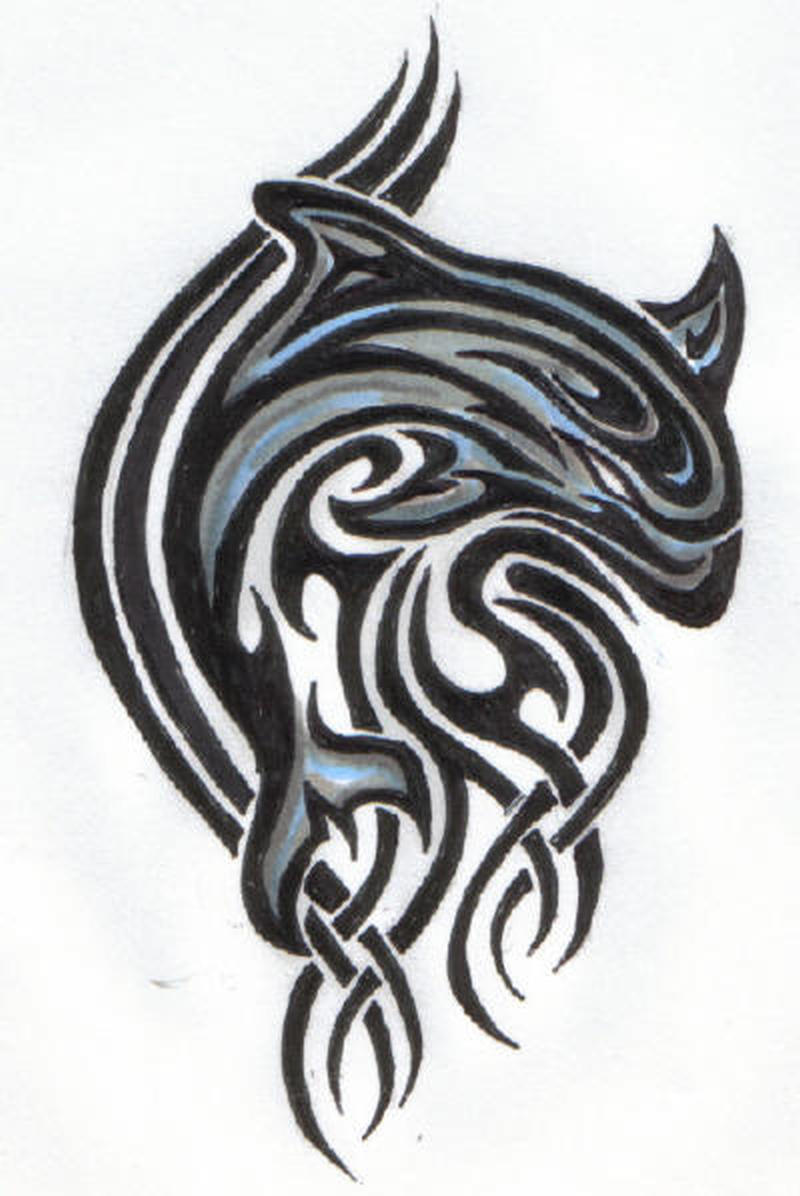 Tribal dolphin sample 3 tattoo