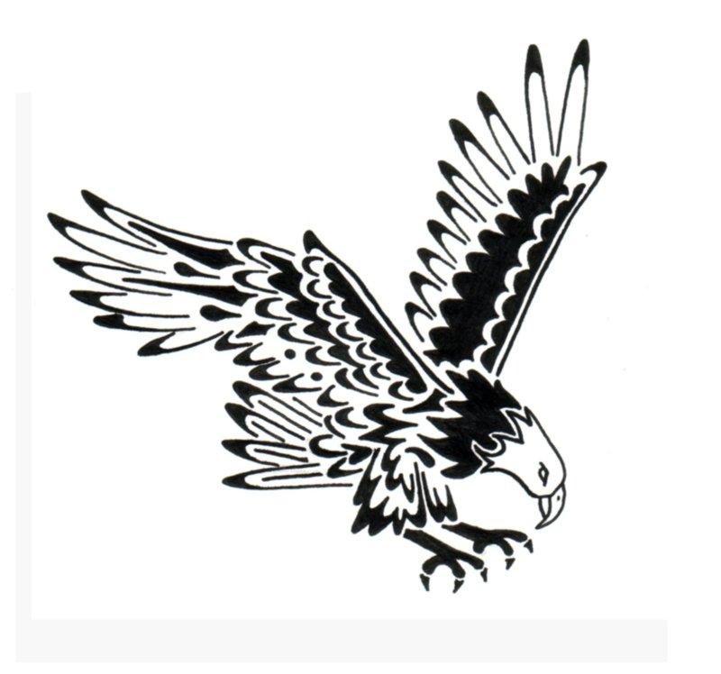 Tribal eagle tattoo design 4
