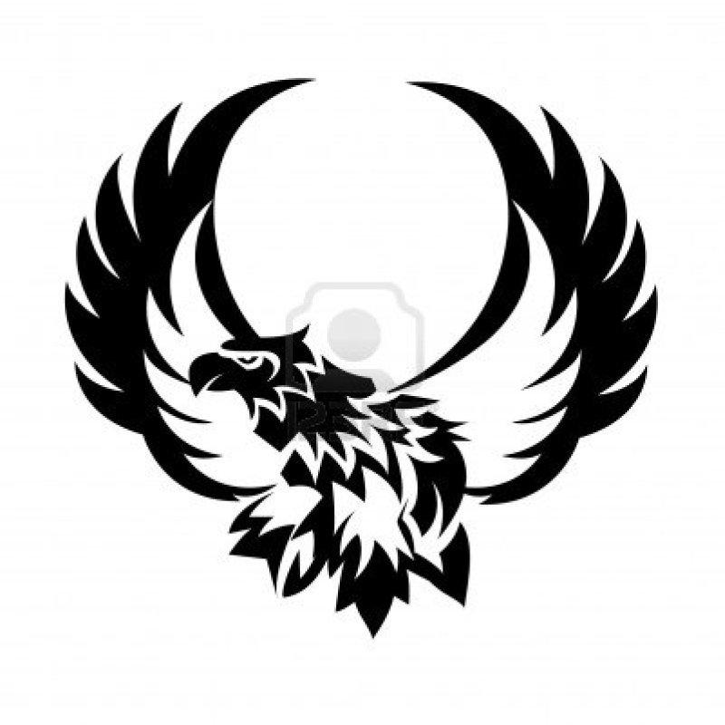Tribal eagle tattoo example