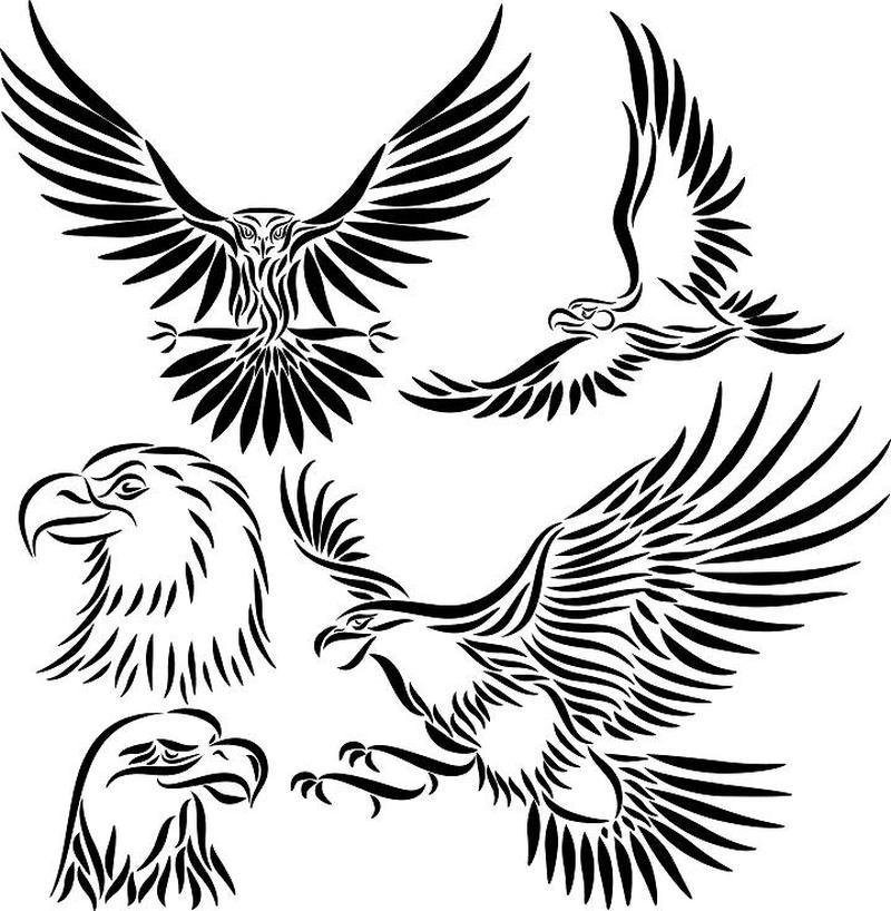 Tribal eagle tattoo pack