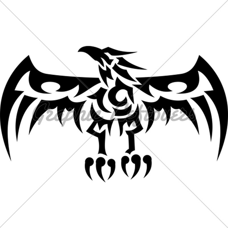 Tribal eagle tattoo sample 3