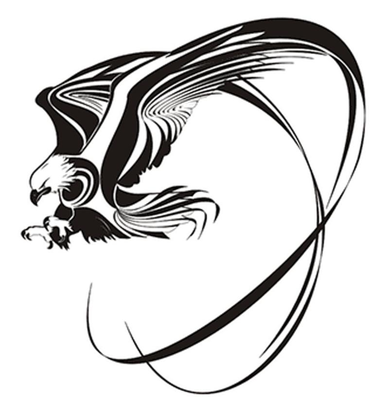 Tribal eagle tattoo sample