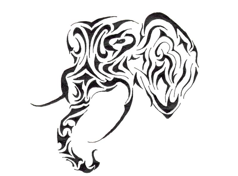 eae5038e2 Tribal elephant head tattoo sample - Tattoos Book - 65.000 Tattoos ...
