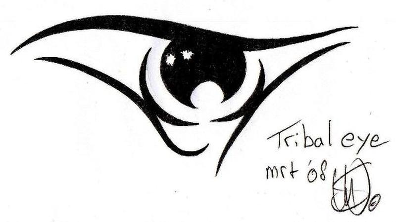 d759c4bd3f69c Tribal eye tattoo stencil 2 - Tattoos Book - 65.000 Tattoos Designs
