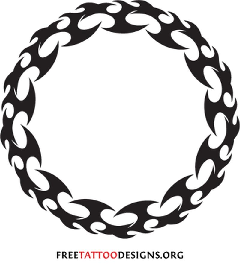 ebf5c78c4 Tribal flames circle tattoo design - Tattoos Book - 65.000 Tattoos ...