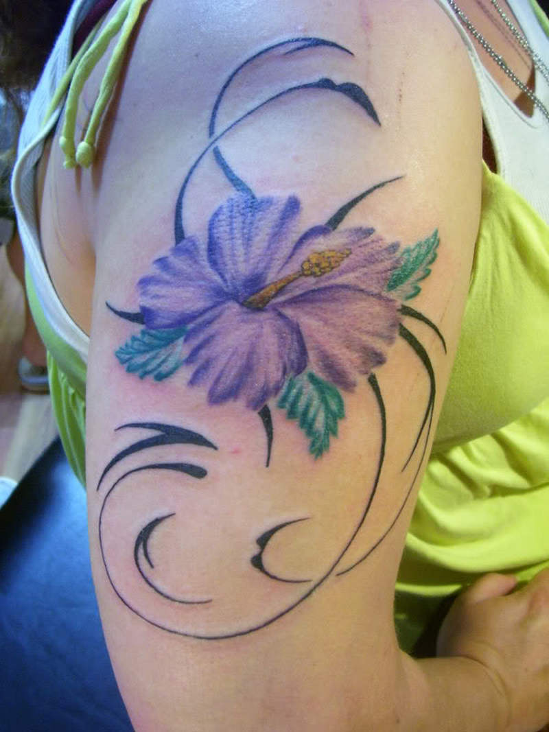 Tribal Flower Tattoo For Women On Shoulder Tattoos Book 65 000