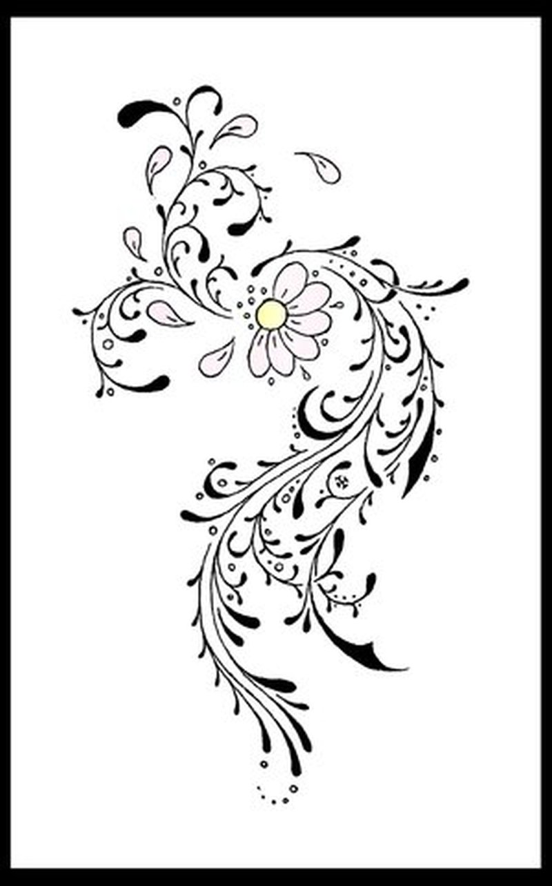 Tribal flower tattoo image 2