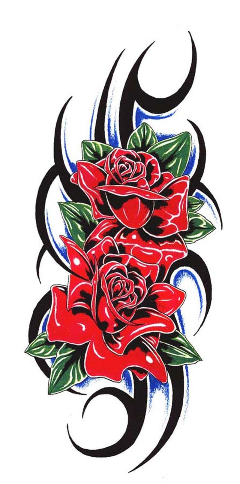 Tribal flower tattoo stencil 2
