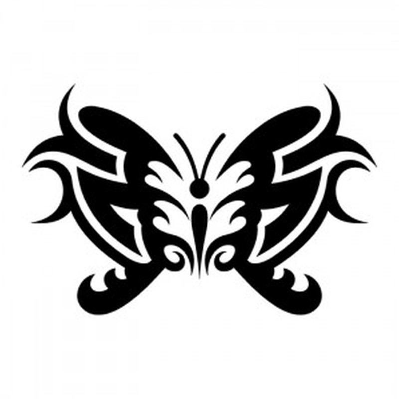 3ed7cff1db3c2 Tribal gemini butterfly tattoo design - Tattoos Book - 65.000 ...