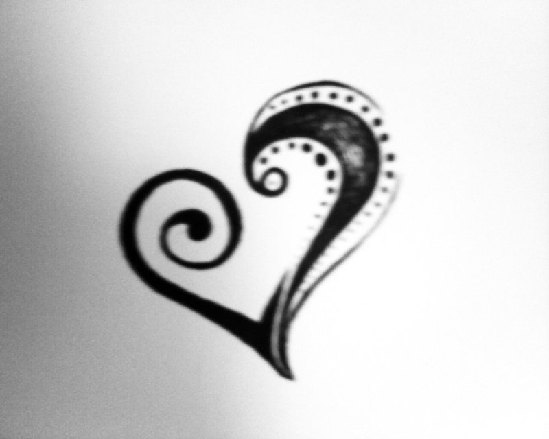 Tribal heart tattoo sample 4