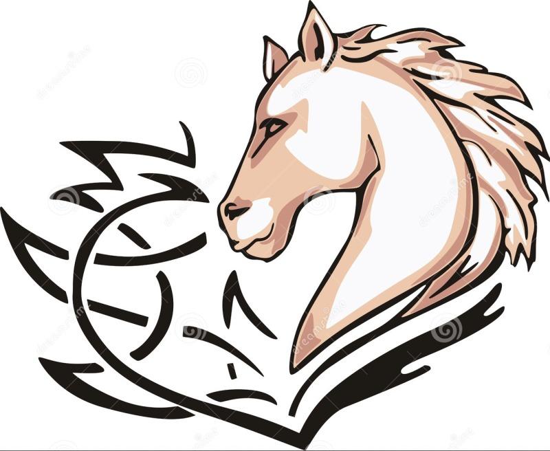 fb0974c71 Tribal horse head tattoo design 2 - Tattoos Book - 65.000 Tattoos ...