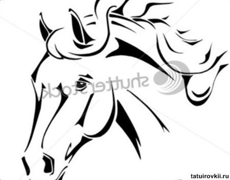 f68f8e754 Tribal horse head tattoo design 5 - Tattoos Book - 65.000 Tattoos ...