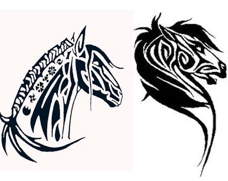 112b5d628 Tribal horse head tattoo designs 4 - Tattoos Book - 65.000 Tattoos ...