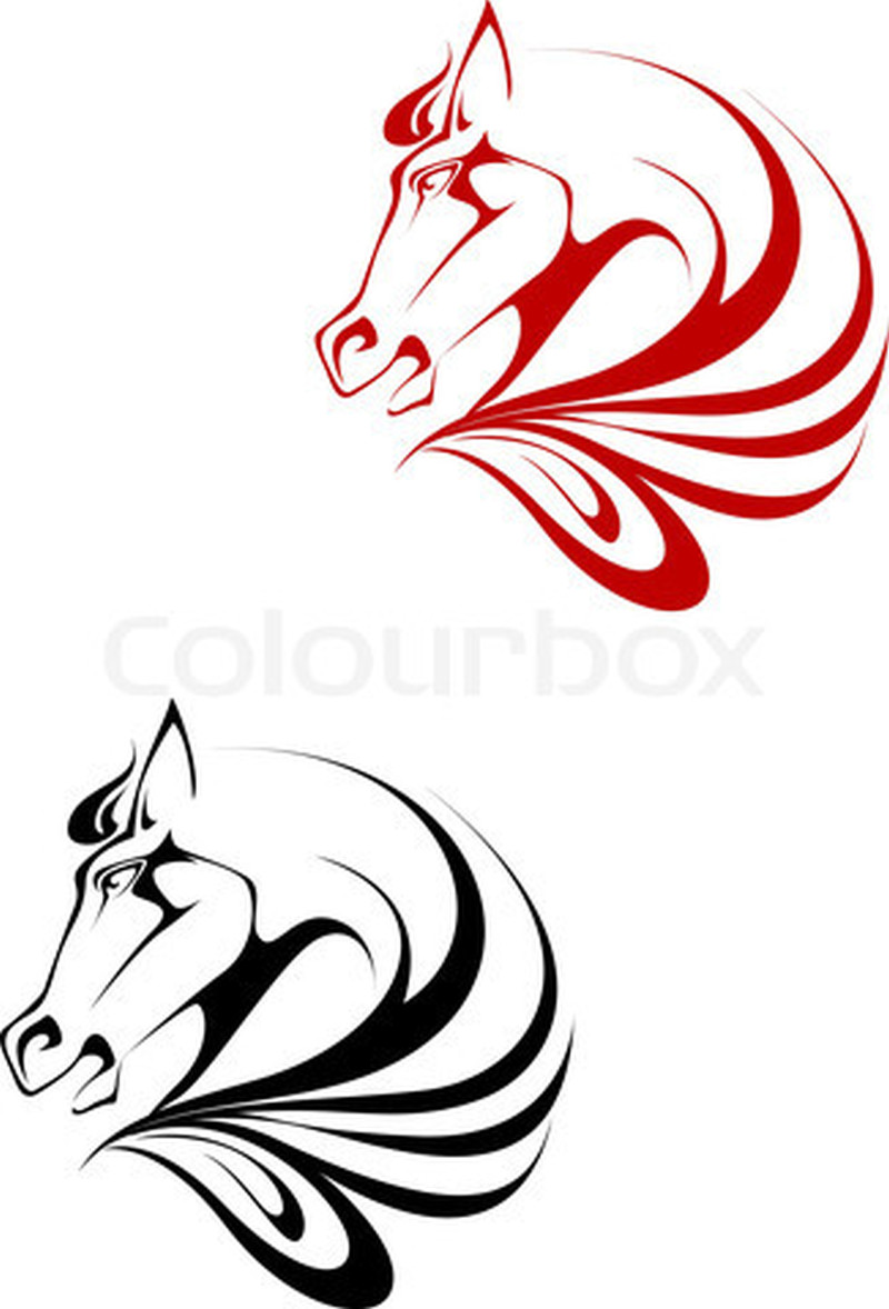 Tribal Horse Head Tattoo Designs Tattoos Book 65 000 Tattoos Designs