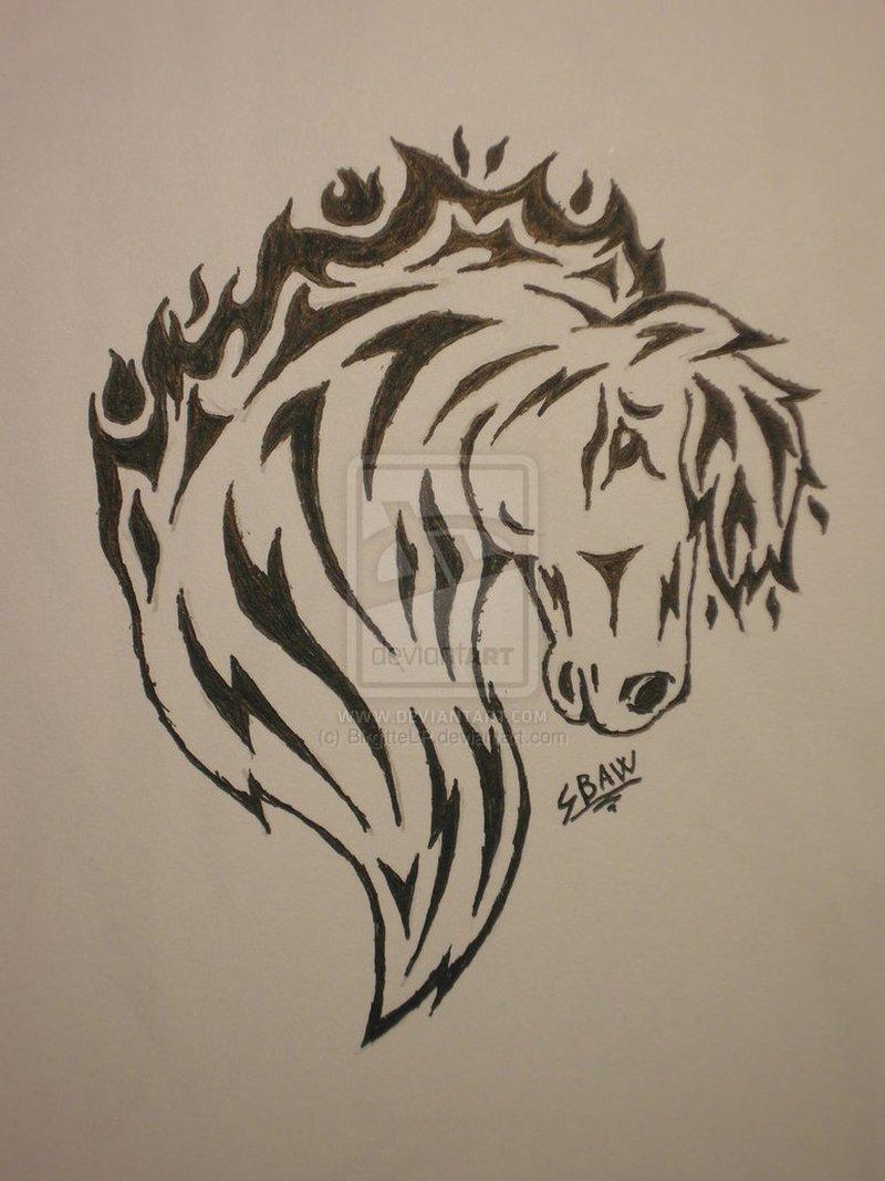 be74d5969 Tribal horse head tattoo poster - Tattoos Book - 65.000 Tattoos Designs