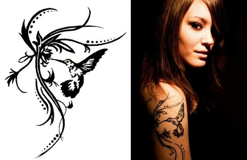 6ac94aee1063a Tribal hummingbird tattoo for girls - Tattoos Book - 65.000 Tattoos ...