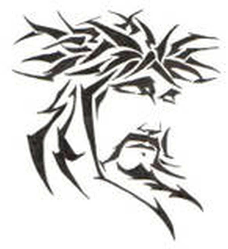34859b07f Tribal jesus head tattoo stencil - Tattoos Book - 65.000 Tattoos Designs