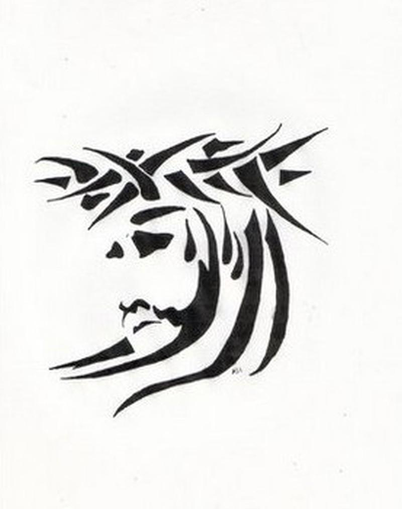 Tribal jesus tattoo image