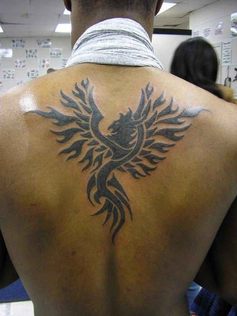 Tribal Phoenix Tattoo On Back Tattoos Book 65 000 Tattoos Designs