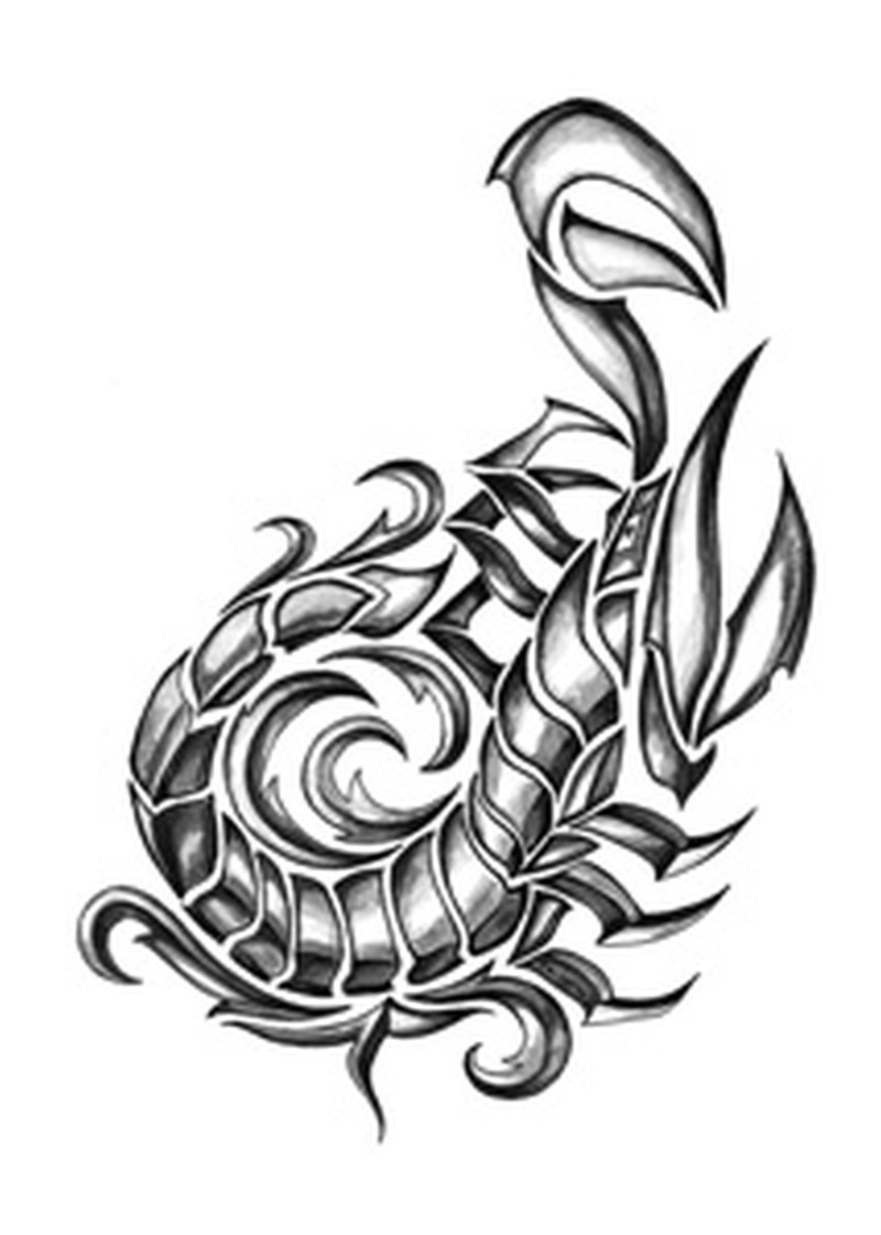 Tribal scorpion insect tattoo design 2