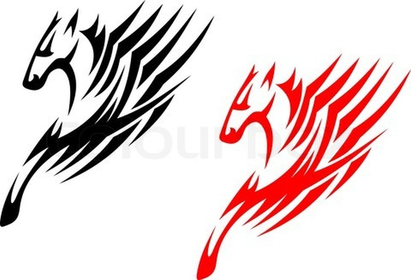 Tribal stallions horse tattoo samples