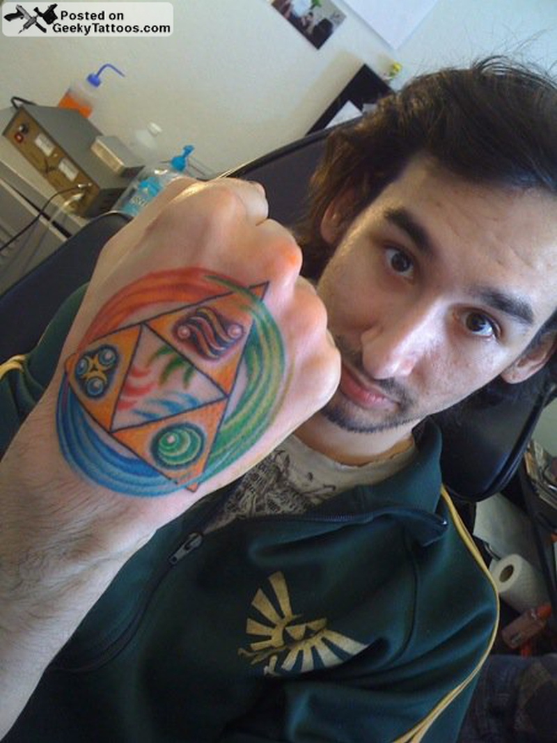 Triforce hand tattoo design tattoos book for Triforce hand tattoo