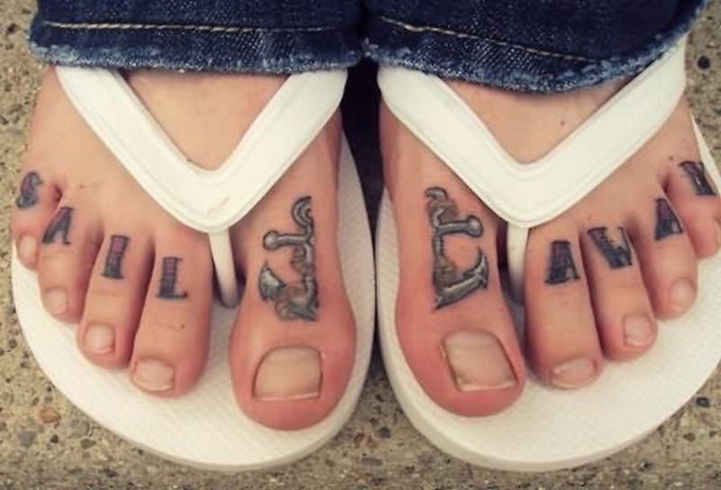 Tumblr anchor tattoo on toe - Tattoos Book - 65.000 Tattoos Designs