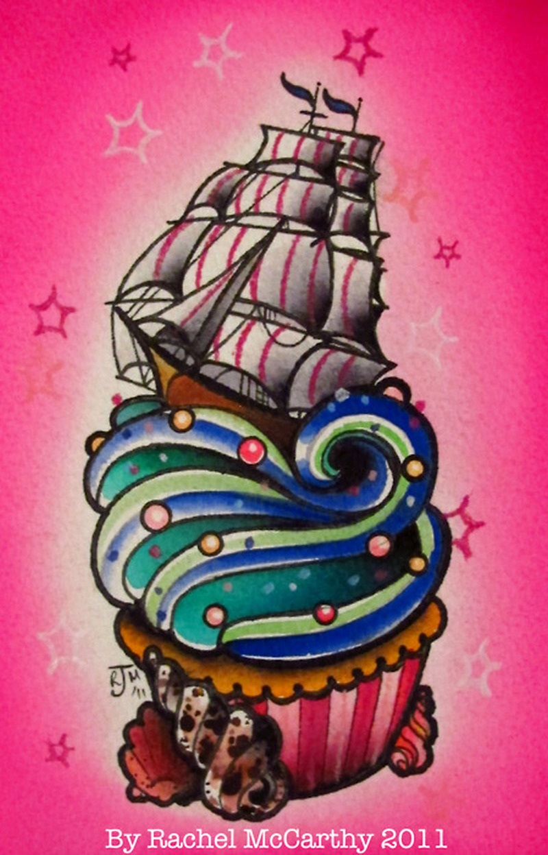 Tumblr cake tattoo design