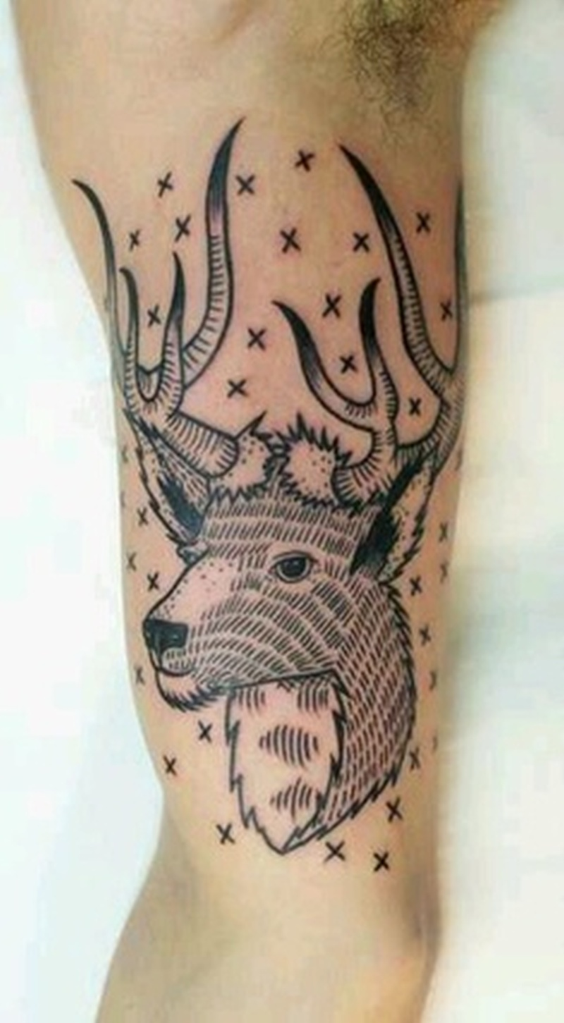 Tumblr deer tattoo design