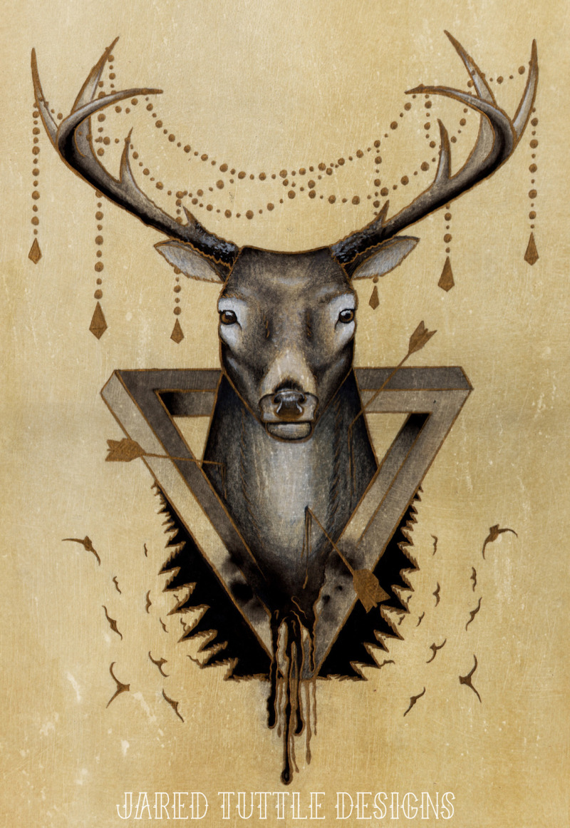 Tumblr deer tattoo poster