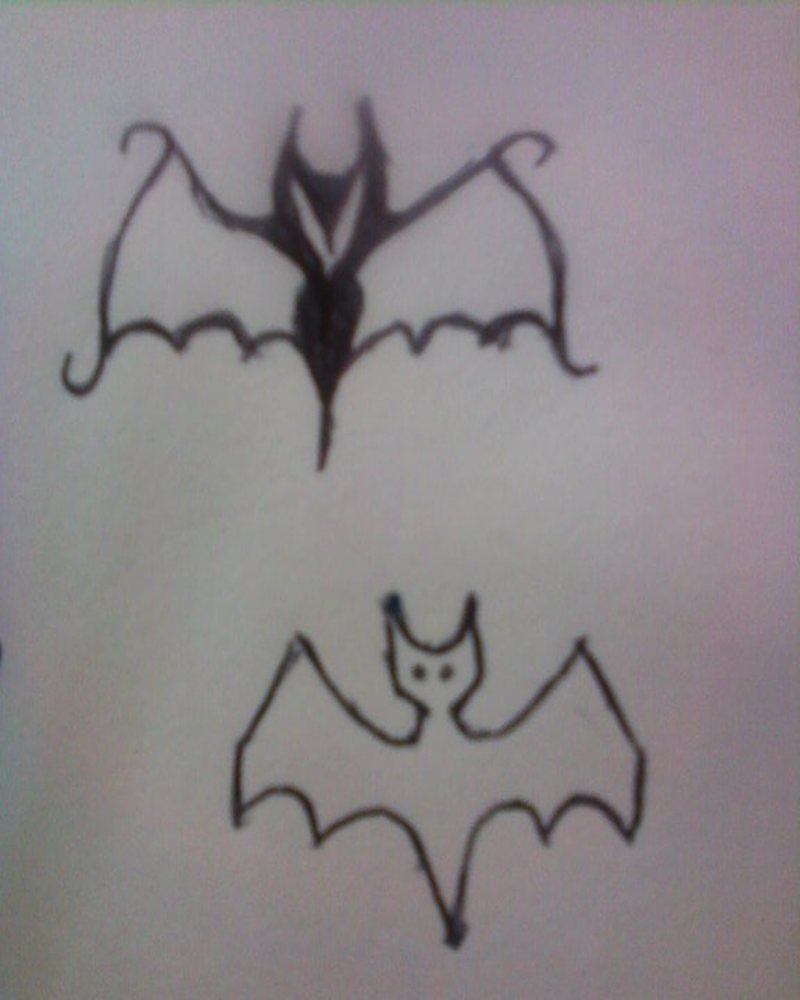 Two amazing bats tattoo design