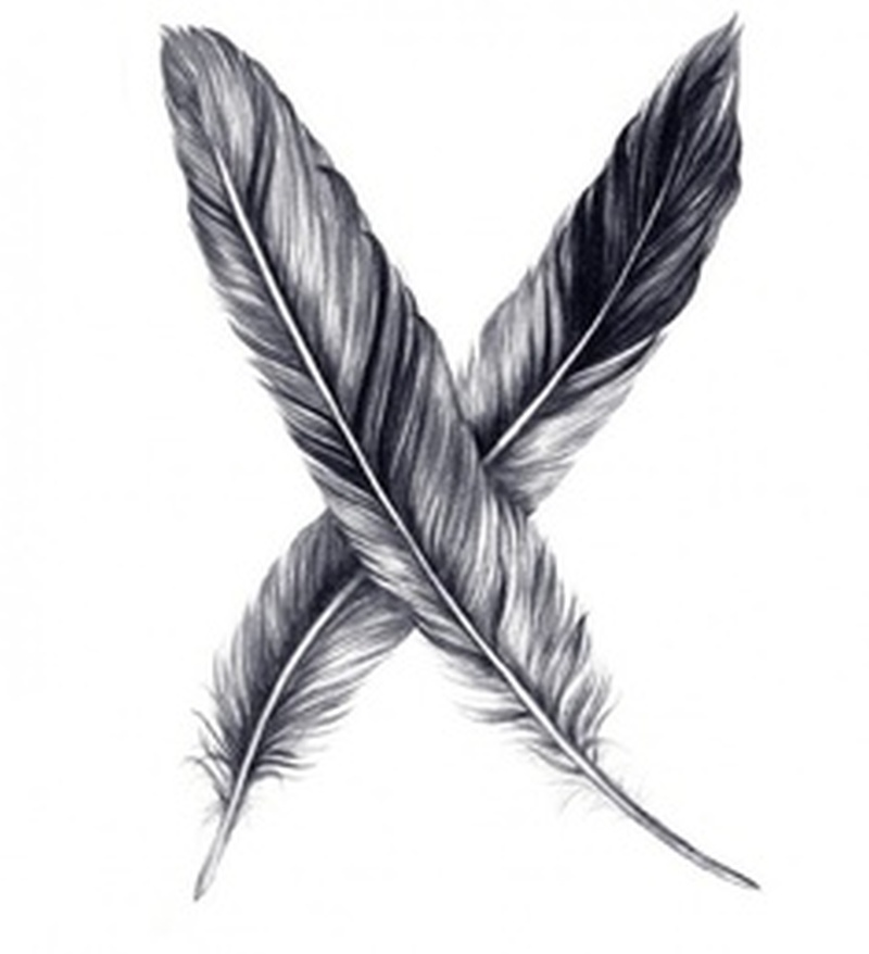 two feather designs tattoo tattoos book tattoos designs. Black Bedroom Furniture Sets. Home Design Ideas