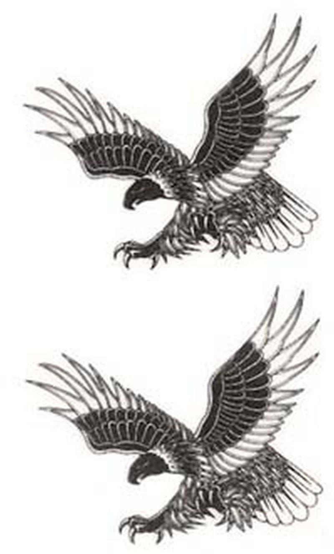 Two soaring eagles tattoo design