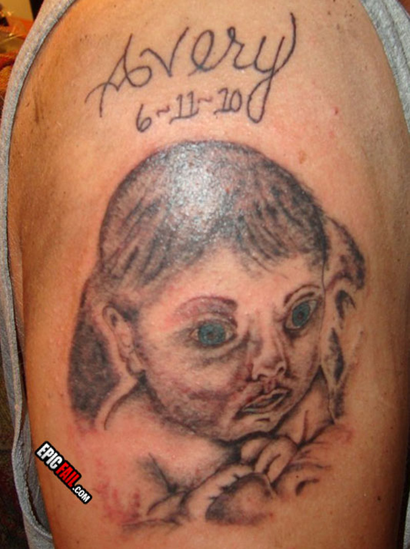 Ugly baby girl tattoo design tattoos book for Baby s first tattoo book