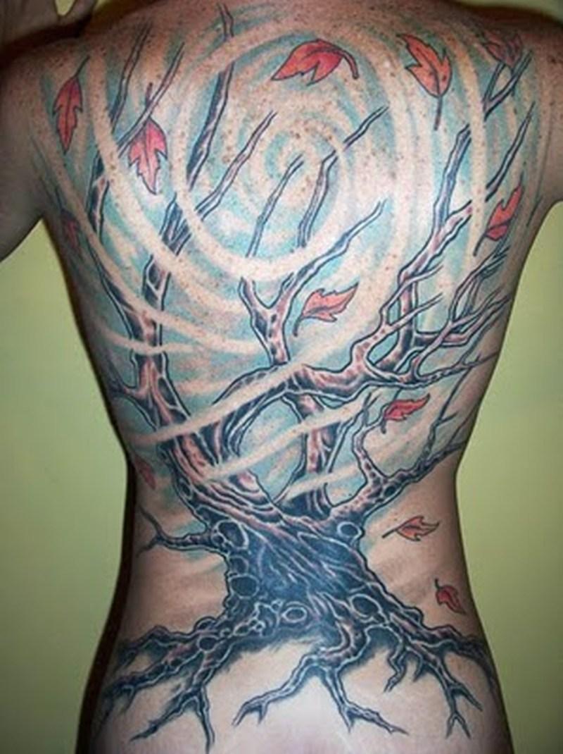 Underwater tree aqua tattoo