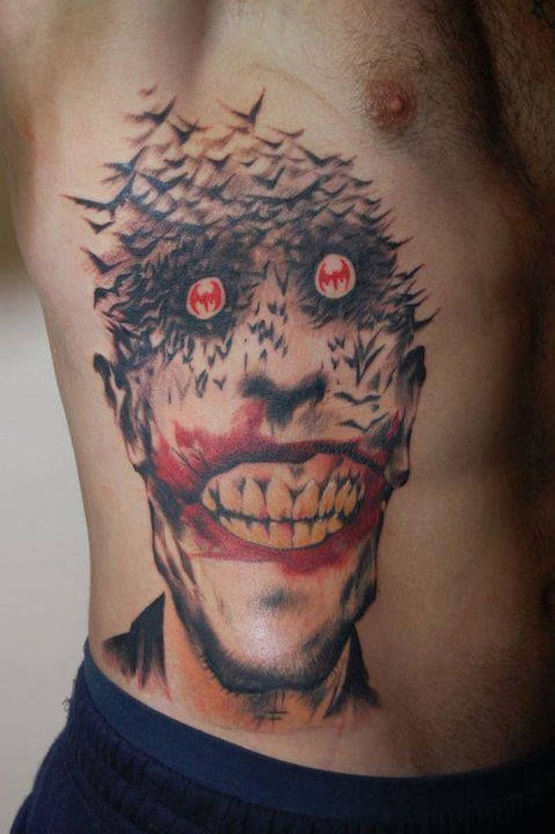Unique joker tattoo for men