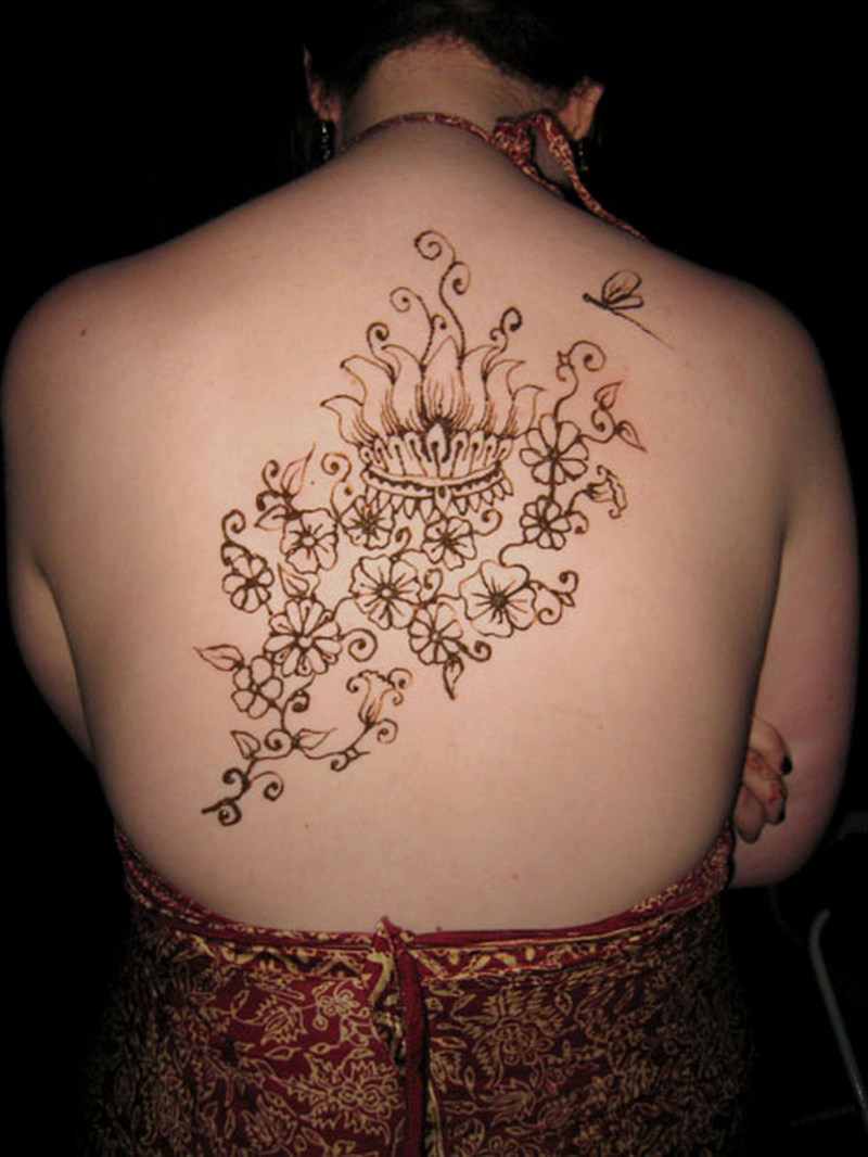 upper back henna tattoo design tattoos book tattoos designs. Black Bedroom Furniture Sets. Home Design Ideas