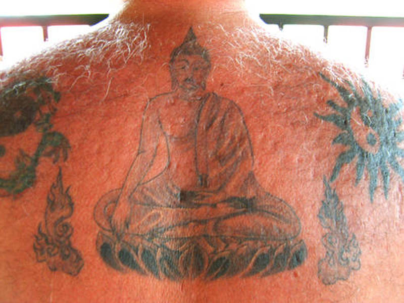 6b99db10dbd4e Upper back religious buddha tattoo - Tattoos Book - 65.000 Tattoos ...