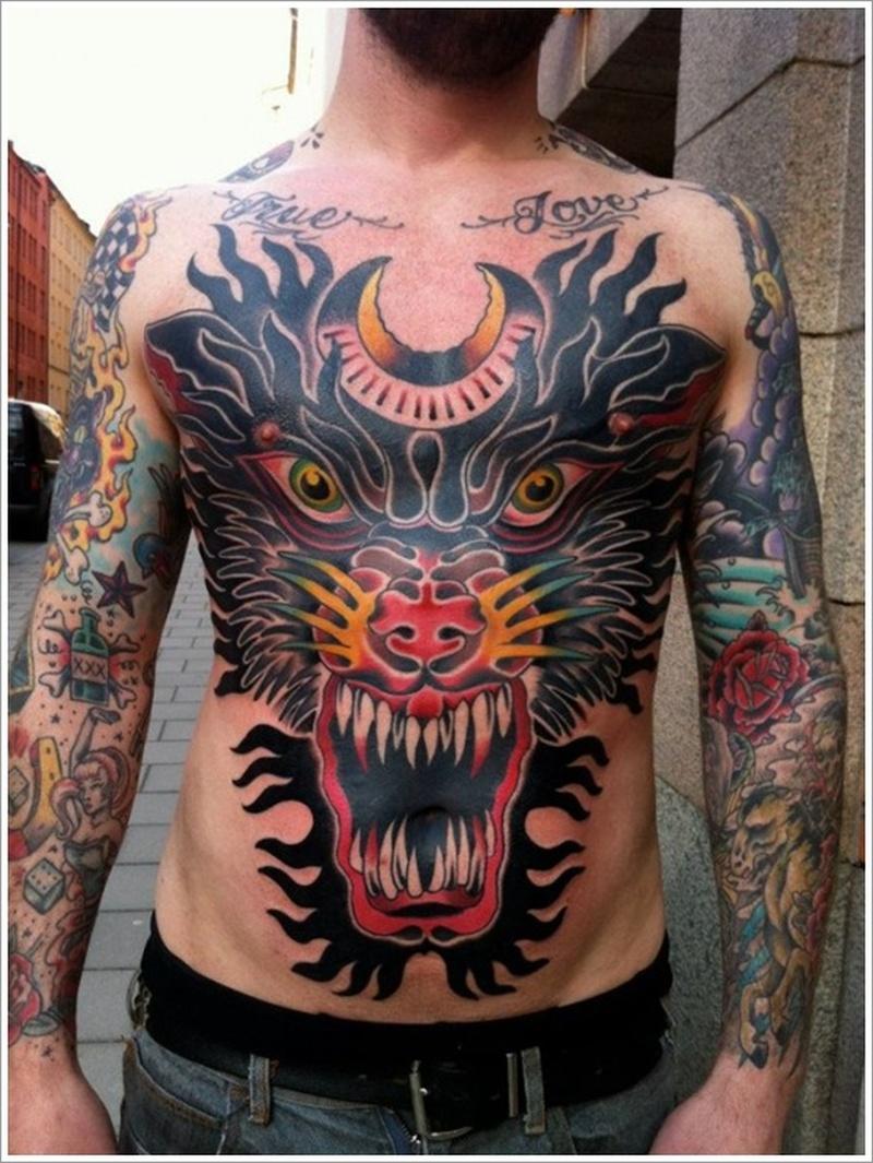 Upper body japanese tattoo designs