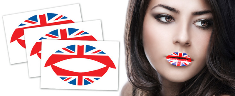 Us flag tattoo for girls lips