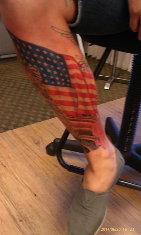 6638d9913a439 Us flag tattoo on leg for men - Tattoos Book - 65.000 Tattoos Designs